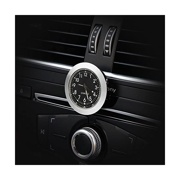 White 1.6 Large LCD Display Stick On Car Digital Clock Use for Car Dashboard Air Vent//Home//Office AOZBZ Car Clock
