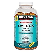 Kirkland Signature Super Concentrate Omega-3 Fish Oil 1000mg, EPA 440/DHA 280, 300 Soft gels