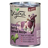 Purina Beyond Grain Free, Natural Gravy Wet Dog Food, Grain Free Beef & Spinach Recipe - (12) 12.5 oz. Cans