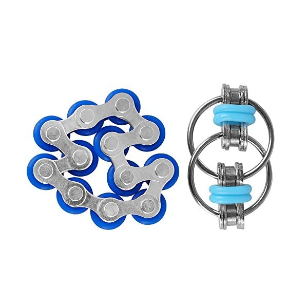 ZJT Roller Chain Fidget Toy Stress Reducer Anxiety Semicircle ADHD and Autism