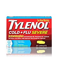 Tylenol Cold + Flu Severe Medicine Caplets for Cold, Flu, Fever, Cough & Congestion Relief, 24 ct.