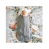 Rainlin Baby Swaddle Sack with Zip Arms-in Sleep Sack for Newborn Boys Girls 0-6 Months Light Grey