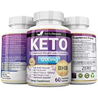 Keto BHB 1200mg Pure Ketone 60 Capsules (Pills) Advanced Weight Loss -Natural Ketosis Fat Burner Using Ketone & Ketogenic Diet, Boost Energy While Burning Fat, Fast & Effective Perfect for Men Women