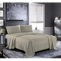 Pure Bedding Bed Sheets - Queen Sheet Set [4-Piece, Grey] - Hotel Luxury 1800 Brushed Microfiber - Soft and Breathable - Deep Pocket Fitted Sheet, Flat Sheet, Pillow Cases