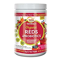 Healthy Delights Naturals, Organic Reds Probiotic's Powder, Antioxidant Superfood, Naturally Boost Energy, Non-GMO, Delicious Mixed Berry Flavor, 30 Servings