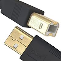 Ipax Type-A to Type-B Copper Wire High Speed USB Cable, USB 2.0 to Host Connector (10-Foot Black)