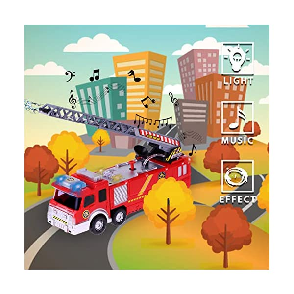 Fire Truck Toy Conthfut Fire Engine Battery Operated Electric Car ...