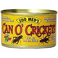 Zoo Med Laboratories SZMZM41 Can O Crickets Pet Food, 1.2-Ounce