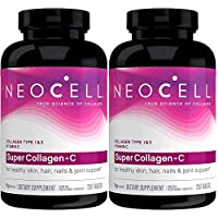 Neocell Super Collagen+C Type 1 and 3, 6000mg plus Vitamin C, 250 Count (.250 Pack of 2)