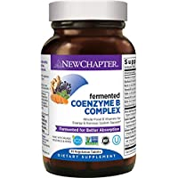 New Chapter Vitamin B Complex + Elderberry – Fermented Coenzyme B Complex (Formerly Coenzyme B Food Complex) with Vitamin B12 + Vitamin B6 + Biotin - 30 Ct (Packaging May Vary)
