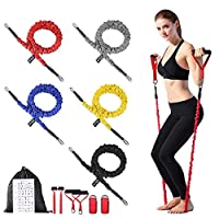 Lorchwise Resistance Bands,Exercise Resistance Bands and Workout Fitness Set,Fitness Training Tubes for Total Body Exercise Use Anywhere, Home Gym Equipment for Arm & Legs