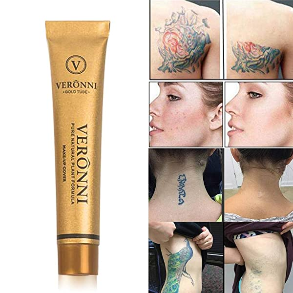 shamrock58 for VERONNI Tattoo Concealer to Cover Tattoo Scar Birthmarks Waterproof Brighten Concealer (A)