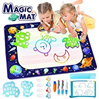 Betheaces Large Water Doodle Mat - Magic Drawing Mat Kids Toys Doodle Painting Writing Board with Magic Pens Educational Toys Gifts for Toddlers Boys Girls Age of 2 3 4 5 6 7 8 Year Old 40