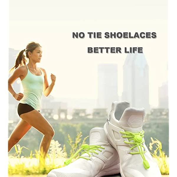 Nathan Reflective Elastic No Tie Shoe Laces for Running and Active Sports
