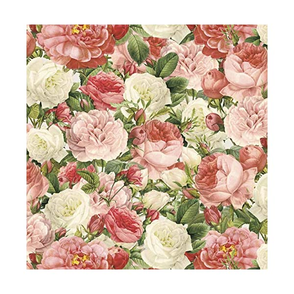 Flowers Cotton Fabric by The Yard 1 Yard Precut Pieces