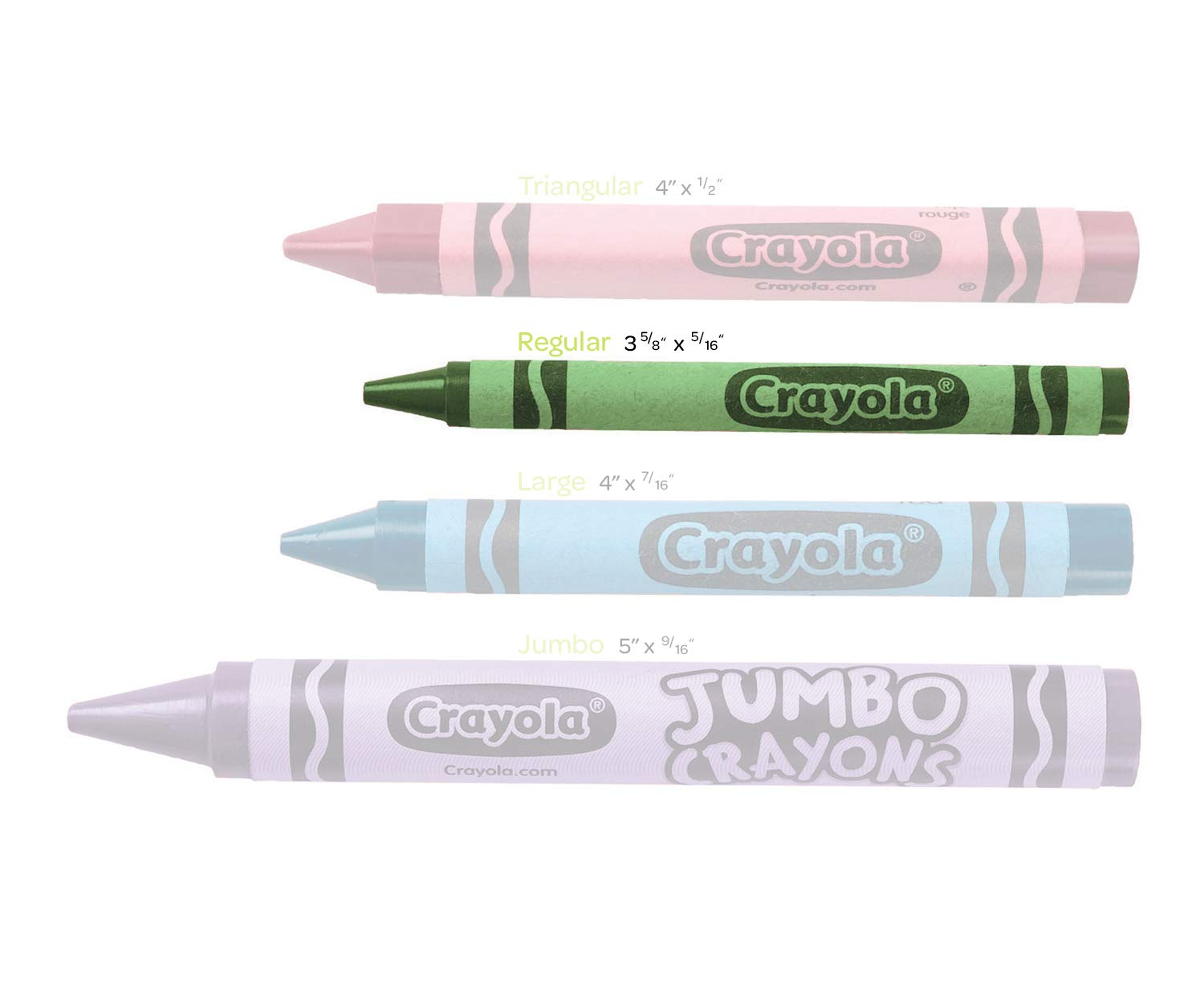 400 Count 8 Classic Crayola Colors Bulk Pack Is Great for Kids Classrooms or Preschools Crayola Crayon Classpack Large Size Non-Toxic Art Tools for Kids /& Toddlers 3 /& Up