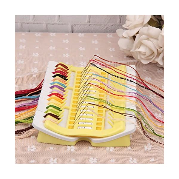 jelly pink Pueri Embroidery Floss Organizer 50 Positions Sewing Needle Pins Holder Cross Stitch Kit Embroidery Thread Project Dedicated Tool DIY Sewing Tools