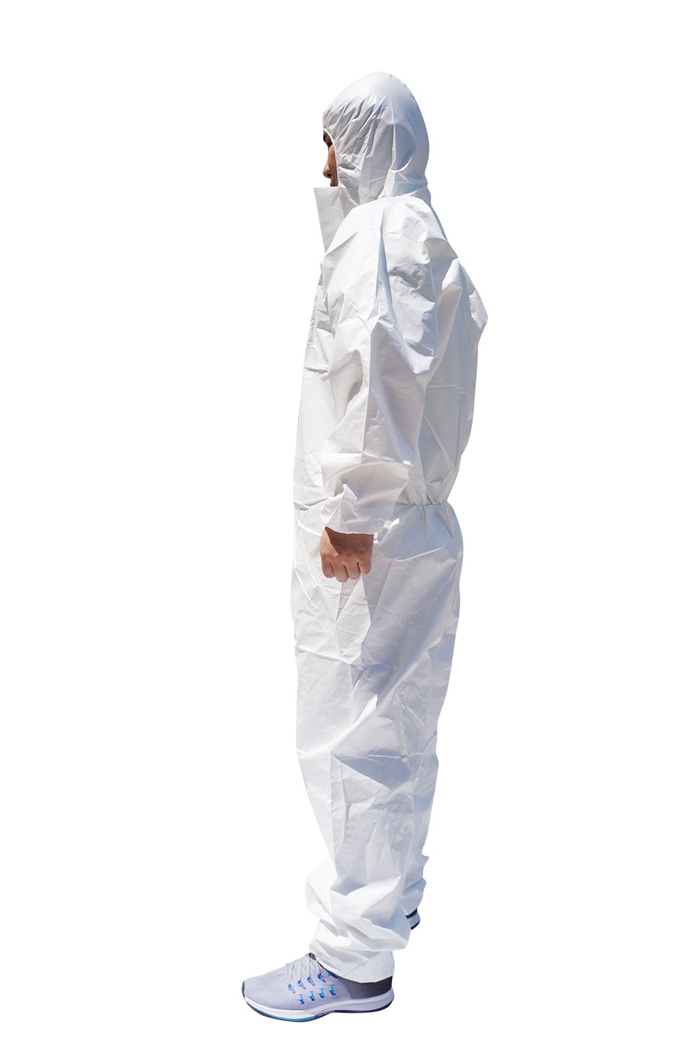 2X Pack of 25 Serged Seam Dupont TY127SWH2X0025VP Coveralls with Hoods White