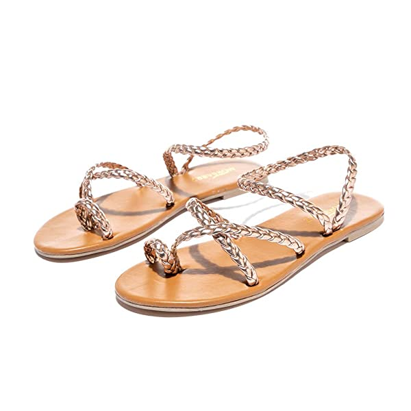 Lurryly Womens Slide-on Open Toe Sandals Flat-Bottomed Slippers Leopard Beach Shoes