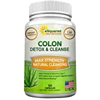 Pure Colon Cleanse for Weight Loss - 120 Capsules, Max Strength, Natural Colon Detox...