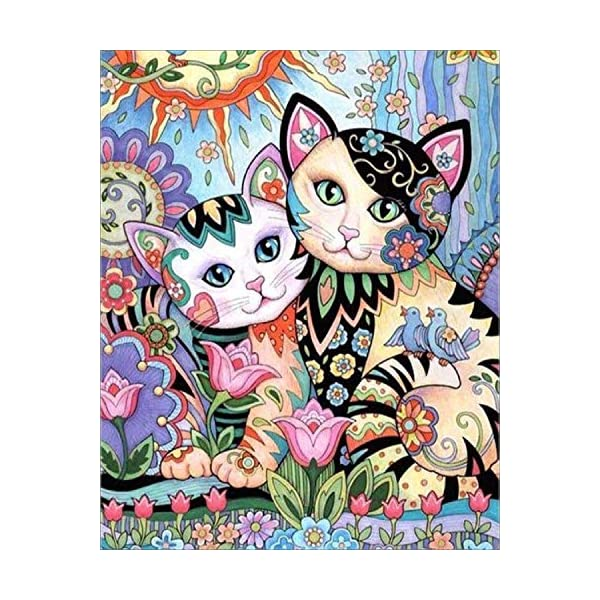 Colorful Dog, 12X16 TINMI ARTS 5D DIY Diamond Painting Animals Kits for Adults Cross Stitch Rhinestone Embroidery Home Wall Decoration
