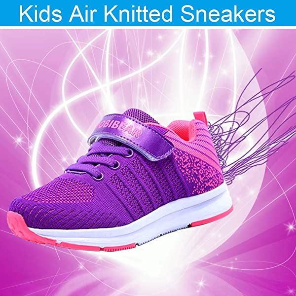 FEIKENIU Sneakers for Boys and Girls Athletic Tennis Shoe Comfort Mesh Breathable Kids Running Lightweight Shoes