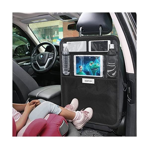 Car Back Seat Protectors Aoafun 2 Pack Kick Mats Car Seat Back Protectors with 10.1 iPad//Tablet Holder Touch Screen,Waterproof Seat Covers for The Back of Your Seat Black Backseat Organizer