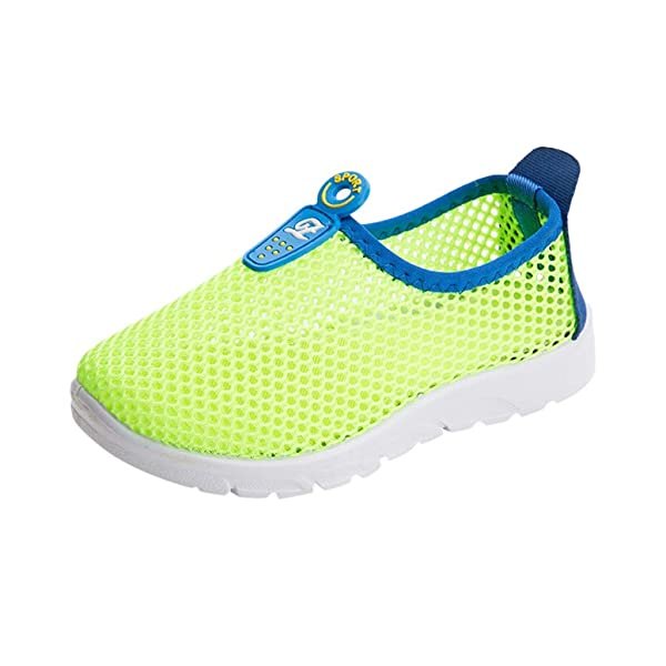 ❤️Rolayllove❤️ Shoes for Boys Girls,Kids Mesh Lightweight Breathable Running Sneakers Easy Walk Sport Casual Shoes