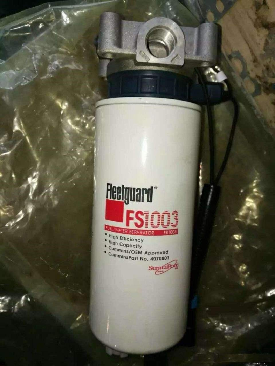 FS1065 Water//fuel separator Fit for Cummins 4934879,ISC07 StrataPore Media Replaces P551103,BF1378-SPS,33965
