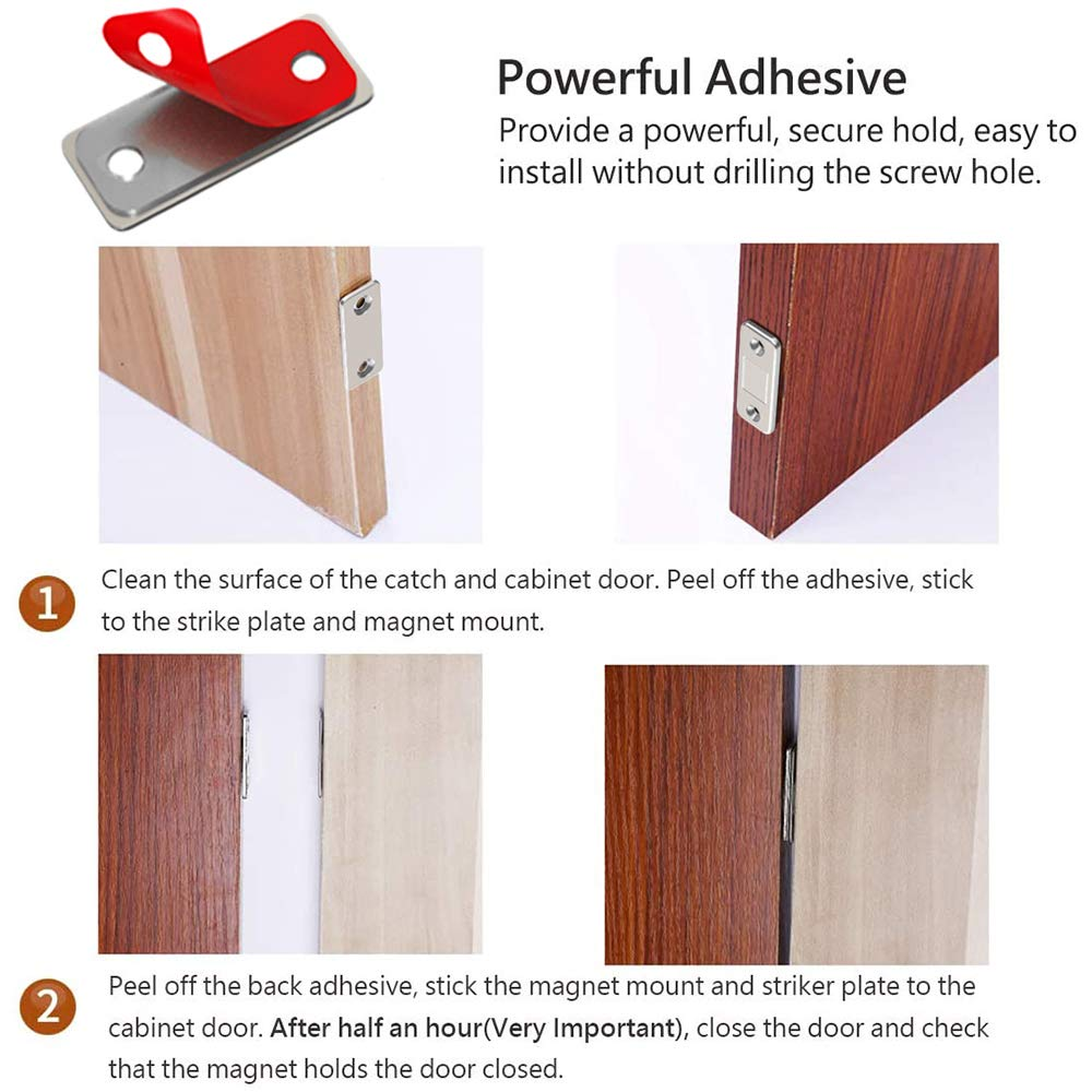 Diy Tools Catches Cabinet Door Magnets Jiayi 12 Pack Ultra Thin Adhesive Drawer Magnet Stainless Steel Magnetic Door Catches Latches Hardware Magnetic Catch For Sliding Door Kitchen Cupboard Closure Closet Closer