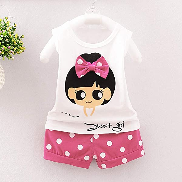 Floral Toddler Baby Girl Off Shoulder T Shirt Tops Shorts Outfit Clothes Set WOCACHI Toddler Baby Girls Clothes
