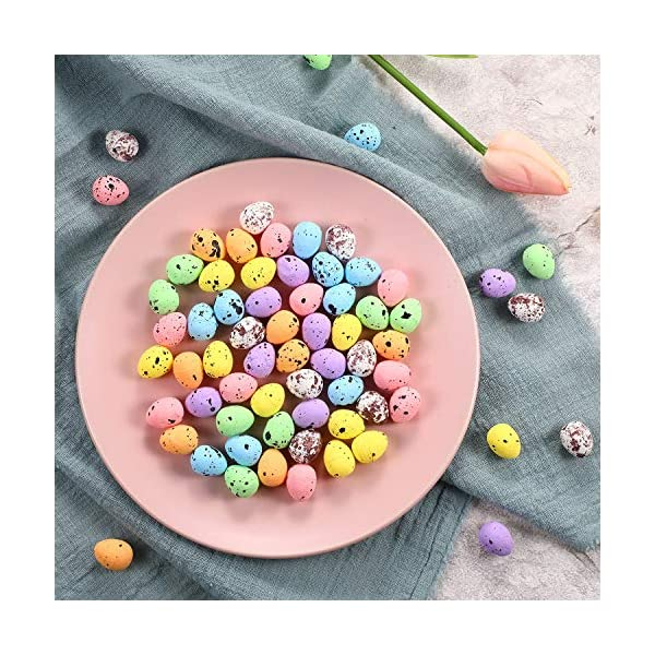 Glitter Foam Easter Eggs Hanging Crafts Spring Party Decor Home Decorations 6pcs