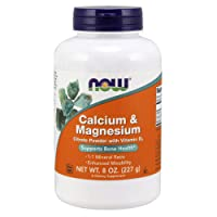 NOW Supplements, Calcium & Magnesium Citrate Powder with Vitamin D3, Supports Bone...