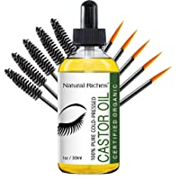 Natural Riches Eyelash Growth Serum, Pure Organic Cold Pressed Castor Oil USDA Certified...