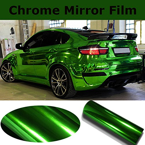1ft x 5ft Green Mirror Chrome Cast Vinyl Wrap Self-Adhesive Film Decal Air-Release Bubble and Air-Free 3MIL-VViViD8
