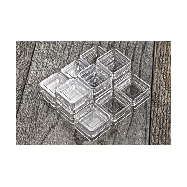 SE 8741BB 12 Stackable Square Plastic Containers Clear