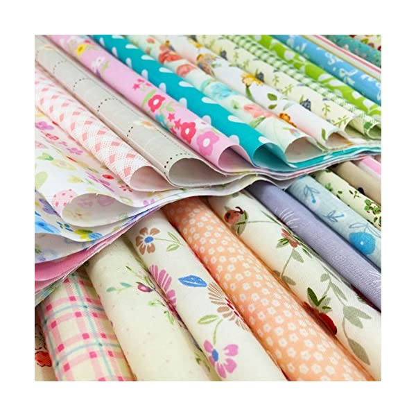 4 x 4 inches, 240pcs flic-flac Quilting Fabric Squares 100/% Cotton Precut Quilt Sewing Floral Fabrics for Craft DIY