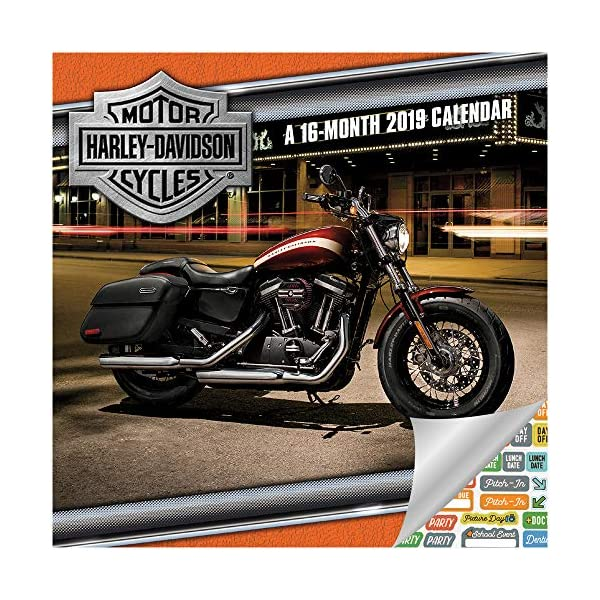 Deluxe 2020 Harley Davidson Motorcycles Wall Calendar with Over 100 Calendar Stickers Harley Davidson Calendar 2020 Set Harley-Davidson Gifts, Office Supplies
