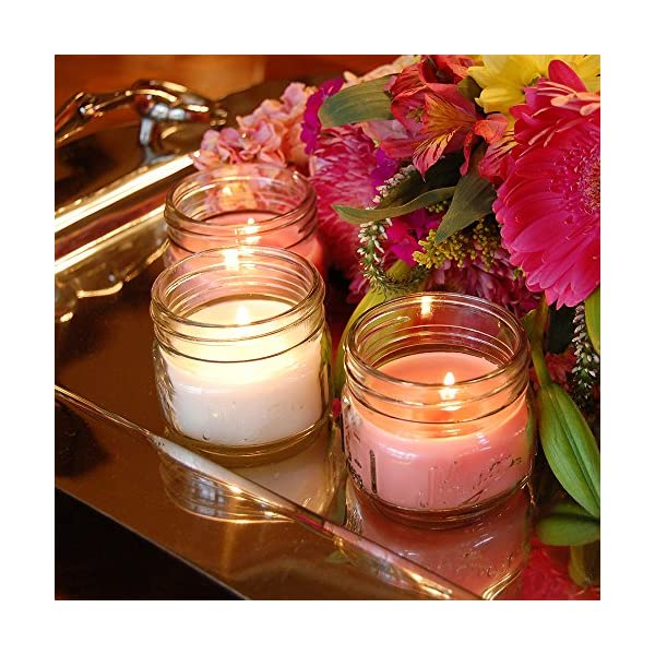 Lumabase 27706 6 Count Holiday Collection in Mason Jars Scented Candles Multicolor 3 oz
