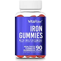 Iron Supplement Gummy Vitamins for Women, Men & Kids [ Immune Support ] Iron Gummies...