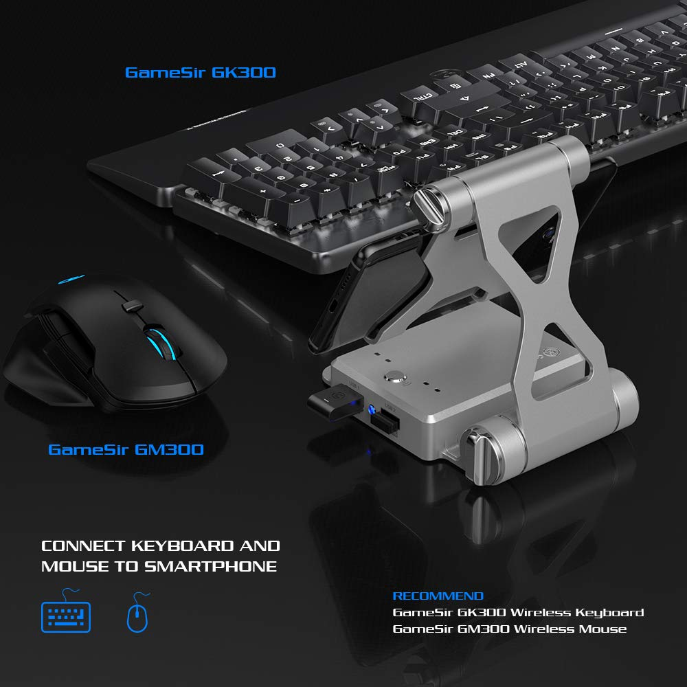 Flydigi Scorpion One-Handed Bluetooth RGB Mechanical Keyboard for Android iPhone PUBG CODM USB Wired PC