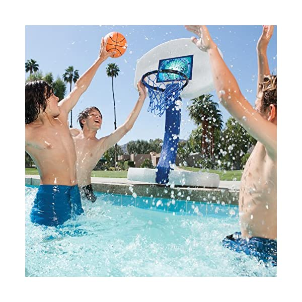 Pool Basketball For All Water Games Fits All Standard Swimming Pool Basketball Hoop Toys /& Accessories Colonel Pickles Novelties