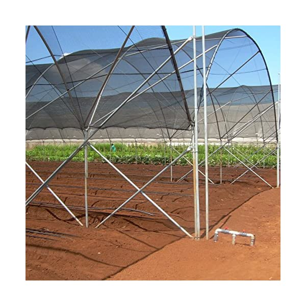 Agfabric 50/% Sunblock Shade Cloth Cover with Clips for Plants 12 X 20 Black