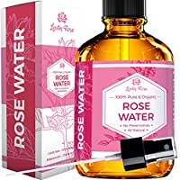 Rose Water Facial Toner by Leven Rose, Pure Natural Moroccan Rosewater Hydrosol Face Spray 4 oz