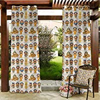 Egyptian Outdoor Blackout Curtain Outdoor Waterproof Curtain Curtains 72