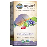 Garden of Life Organic Prenatal Multivitamin Supplement with Folate - mykind Whole...