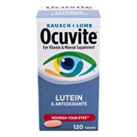 Bausch & Lomb Ocuvite Vitamin and Mineral Supplement for Eyes with Lutein Tablets...