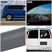 VViViD Black Perforated One-Way Vision Vinyl Automotive Window Wrap Roll (30