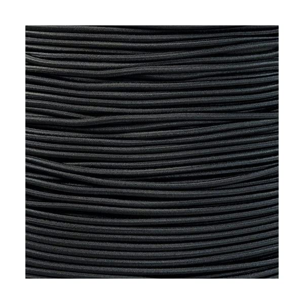 """1//8/"""" 1//2/"""" Paracord Planet 3//8/"""" Made in USA 3//16/"""" 1//32/"""" and 2.5mm Black Shock Cord 1//16/"""" 5//16/"""" 5//8/"""" 1//4 Elastic Bungee Nylon Crafting Stretch"""