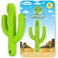 Cactus Baby Teething Toys Toothbrush | Self-Soothing Pain Relief Soft Silicone Teether...